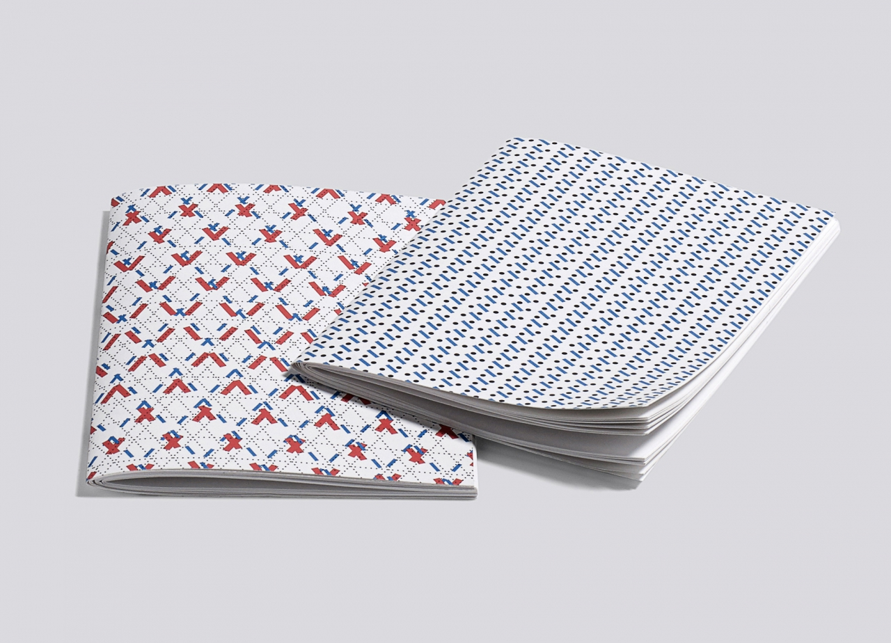 C.v.Z. LINE DOT NOTEBOOK / HAY